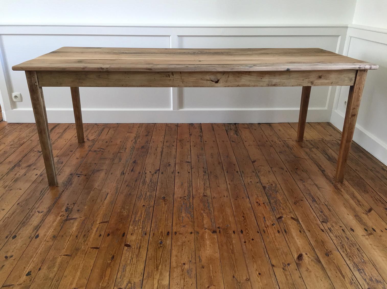 Table de ferme 12×12 – Chine & Chêne